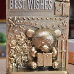 Best wishes Teddy stand